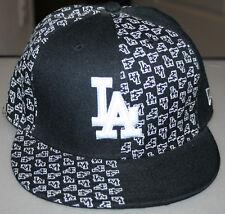 NEW ERA 59 FIFTY LOS ANGELES DODGERS HAT BLACK SIZE 7 1/4
