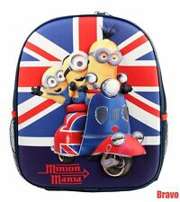 "Despicable Me Minion Toddler size Backpack 12"" >>Kids Book bag< 3-D pop up Image"