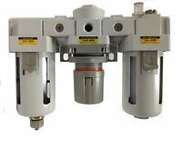 "PneumaticPlus Compressed Air Filter Regulator Lubricator 3/4"" NPT SAU4000M-N06G"
