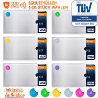 RFID Schutzhülle Blocker Kreditkarte EC Karte Schutz NFC Hülle Schutzhüllen TÜV