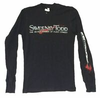 Sweeney Todd Demon Barber of Fleet Street Black Thermal Shirt New Official Movie