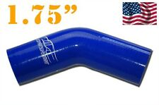 "4PLY Silicone 45 Degree Elbow Connector Joiner Turbo Hose 45mm 1.75"" 1 3/4"" Blue"