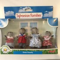 Sylvanian Families Otter Family Doll Vintage Calico Critters Epoch Flair W/Box