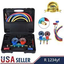New listing R1234Yf Hvac Air Conditioning Aluminum Manifold Diagnostic Charging Gauge Set
