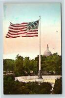 Washington DC, Capitol Building, Flag, DC, Vintage Postcard Z63