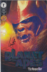 PLANET OF THE APES: THE HUMAN WAR #1 (2001) Signed By Ian Edginton - Back Issue
