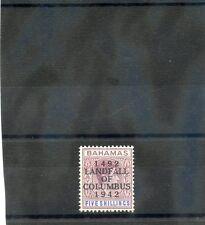 BAHAMAS Sc 128(SG 174)**F-VF NH 1942 COLUMBUS 5SH REDDISH LILAC & BLUE $200