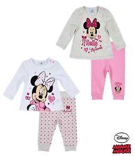Baby Mädchen Langarmshirt + Hose Schlafanzug Minnie Set  62 68 80 86 92 NEU