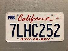 CALIFORNIA License Plate  Lipstick Style RANDOM LETTERS/NUMBERS