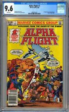 ALPHA FLIGHT #1 CGC 9.6 - WP - ORIGIN - 1st MARRINA PUCK - NEWSSTAND EDITION