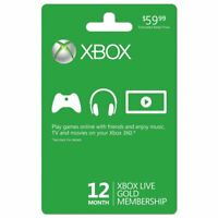 Xbox One/360 Live 12 Month Gold Membership Subscription Code Fast Dispatch