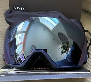 New Giro Lusi Womens Snow Sports Goggles Midnight Flake Royal Blue Vivid Lens
