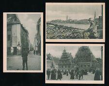 Latvia RIGA WW1 Germany occupation views part series Stilke Berlin x10 PPCs