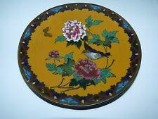 Antique Chinese Famille Jeune Porcelain Plate Polychrome Song Bird & Flora D15cm