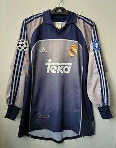 2000-01 Real MADRID GK L/S No.25 CASILLAS UEFA Champions Jersey Shirt Trikot