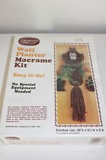 Country Owl Macrame Kit Wall Planter Contemporary Crafts Vintage 1970's