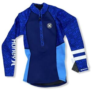 Hurley Women's Fusion 202 2mm Westuit Long Sleeve Surf Jacket - Blue (Small)