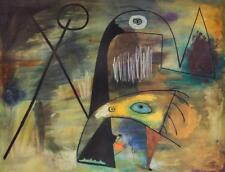 Mid Century Abstract Surrealist Joan Miro 1955 Geometric Shapes Lithograph #S44