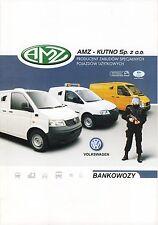 Volkswagen Caddy Transporter LT 2014  catalogue brochure Armored blinde