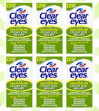 6 Clear Eyes Redness Relief Eye Drops 0.5 OZ
