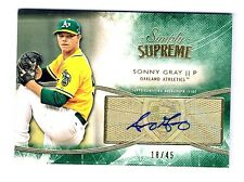 RARE 18/45 Topps Sim Supreme Sonny Gray 2014 Baseball Auto Autograph Signed Card