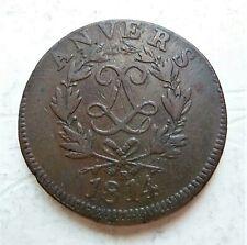 ANVERS - LOUIS XVIII  10 centimes 1814 R sous ruban