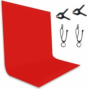 8.5x10FT Red Background Backdrop Photo Booth Backdrop for Photography Photoshoot