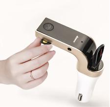 TRASMETTITORE BLUETOOTH FM PER AUTO VIVAVOCE AUDIO USB SD MP3 AUX ACCENDISIGARI