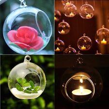 10PCS CHRISTMAS HANGING GLASS BAUBLE TEALIGHT CANDLE GARDEN XMAS TREE DECORATION