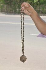 Old Brass Handcrafted Solid Long Hanging Cow Bell With Chain