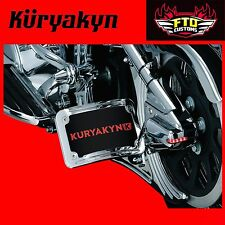 Kuryakyn Chrome Curved Side Mount License Plate Holders for specific Mount 9253
