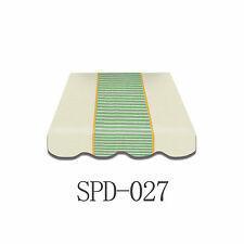 Markisenstoff Plane Zeltstoff  inkl. Volant 3 x 2 m  Fertig genäht SPD-027 wow!