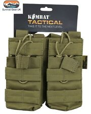 Tactical Double Duo Mag Pouch Coyote MOLLE Ammo Airsoft Quick Release Military