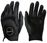 XSPIDERS Men's Golf glove 2 Packs BLACK Lether Bundled with BLADE Golf Tee