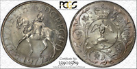 1977 GREAT BRITAIN JUBILEE 25 PENCE BU PCGS MS63 GRADED & TONED COIN!