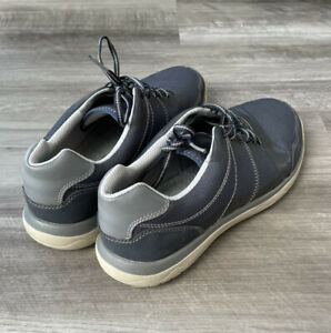 Clarks Men's Blue Votta Edge Casual Shoes Size 9 Cloudsteppers Tetrasoft