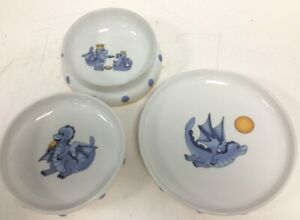 Ikea Children's Smaskig Set of 3 Bowl/Plate Nice Decorated and In Good Condition