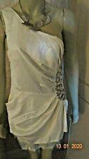 KALEIDOSCOPE WHITE SEQUIN ONE SHOULDER MINI  DRESS SIZE 14 RRP £55