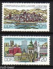 DDR Nr.  2903-04 ** Briefmarkenausstellung Magdeburg