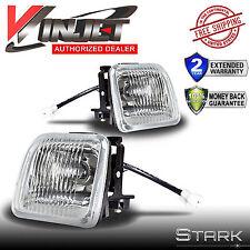 96-98 Civic EK JDM Clear Fog Lights Front Bumper Lamps FULL KIT SET PAIR