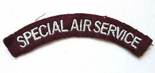 BRITISH army MILITARY CLOTH SHOULDER TITLE BADGE patch SAS SPECIAL AIR SERVICE