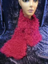 Super Fur Hand Knitted Shaped Scarf