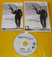 007 QUANTUM OF SOLACE Nintendo Wii Versione Italiana 1ª Edizione ○ COMPLETO - AW