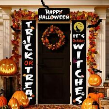 Halloween Decorations Outdoor, 3 Pcs Trick or Treat & It's October Witches.