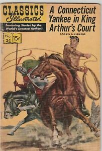Classics Illustrated #24 A CONNECTICUT YANKEE IN KING ARTHUR'S COURT 1964 VF