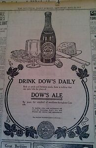 MAY 20, 1911 NEWSPAPER PAGE #J5824- DRINK DOW'S DAILY- MONTREAL, CANADA