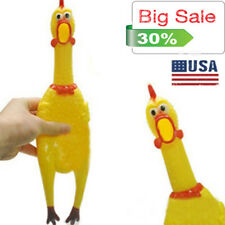 KF_ Pet Dog Puppy Shrilling Rubber Chicken Chew Sound Squeeze Screaming Toy Gi