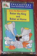 Jean De Brunhoff BABAR THE KING & BABAR AT HOME CASSETTE READ BY JOHN NETTLETON