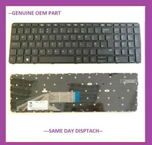 New HP ProBook 450 G3 455 G3 470 G3 UK Keyboard with Frame 818249-031 827028-031