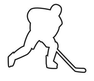 Aufkleber Eishockey Spieler I outline